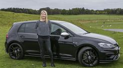 Geraldine Herbert with the new Golf R