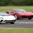 LIFE'S A DRAG: Lamborghini and Ferrari go head-to-head