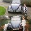 Rescued: Colm Jennings in 1997 with the Beetle he and his father lovingly restored and Colm with the car 20 years to the day after it was first bought