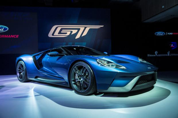 The Ford GT supercar in Geneva.