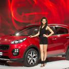 The Kia Sportage is presented on the second press day of the Frankfurt Auto Show IAA in Frankfurt, Germany, Wednesday, Sept. 16, 2015. The car show runs through Sept. 27.