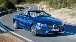 Life on the open road: Mercedes-Benz C 400 4MATIC Cabriolet will set you back in excess of €50,000 when it lands here in September