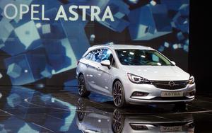 The Opel Astra Tourer at the Frankfurt Motor Show in Germany
