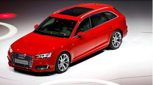 The Audi A4 at the Frankfurt Motor Show in Germany
