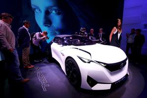 The Peugeot Fractal concept car at the Frankfurt Motor Show in Germany