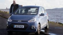 Campbell Spray with the Sunday Independent car of the Year, the Hyundai i10