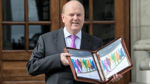 Finance Minister Michael Noonan pictured with Budget 2016