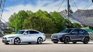 The BMW i4 (left) and iX flagship will cost from €62,690 and from €84,940 respectively