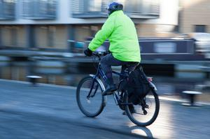 Cyclist in high vis jacket - they are for use all year round