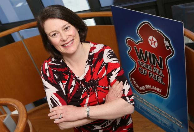 Valero's Bronagh Carron at the launch of Win Your Fill of Fuel Around Ireland.