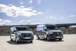 Ringing the changes: Renault is upgrading the Trafic (left) and the Master (right)