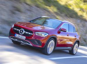 Just here: The Mercedes compact SUV, the GLA