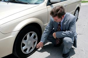 Flat tyre: space saving spares are only designed to be used over a short distance.