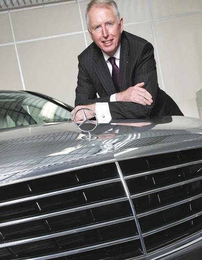 Moving on: Stephen Byrne is retiring after 44 years in the motoring industry, as new Mercedes models arrive