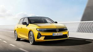 Opel's new sixth-generation Astra, described as a 'sporty 5dr'