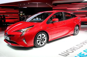 The Toyota Prius at the Frankfurt Motor Show in Germany