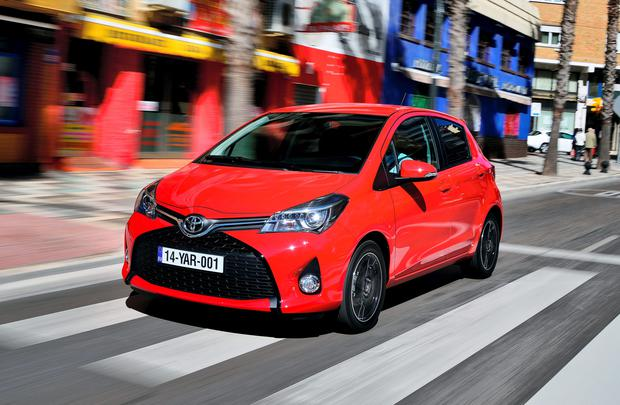 The 2014 face of the Toyta Yaris