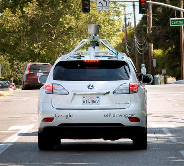 Google's driverless car - it has been claimed that driverless cars could be a terror risk