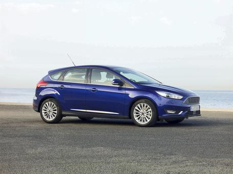 Fresh look: The revised Ford Focus has just gone on sale after getting a makeover.