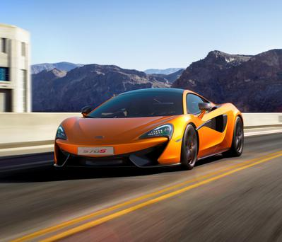 New departure: The McLaren 570S is aimed at buyers of the Porsche 911 Turbo and Audi R8 V10 Plus