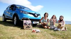 Temperatures were rising ahead of the introduction of the 152 registration period and also rising on sunny Sandymount strand as TV presenter Lorraine Keane picked up her 152 Renault Captur.