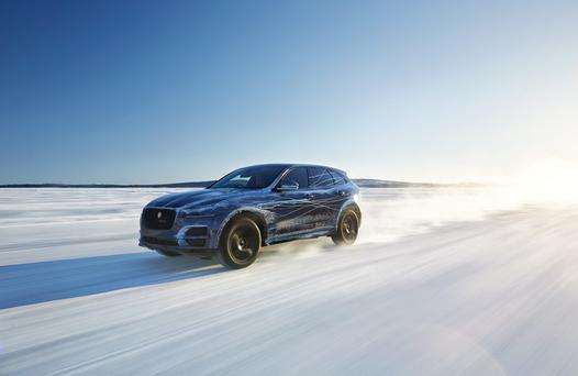 Jaguar F-Pace cold-weather testing