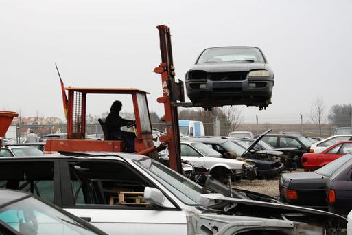 Approximately 160,000 cars a year are scrapped in Ireland, most of them between 10-16 years old.