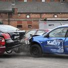 Our shot illustrates exactly what happens in a crash.