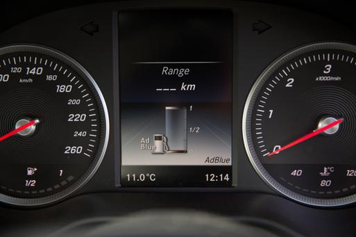 When AdBlue is running low, a warning light on the dashboard should come on.