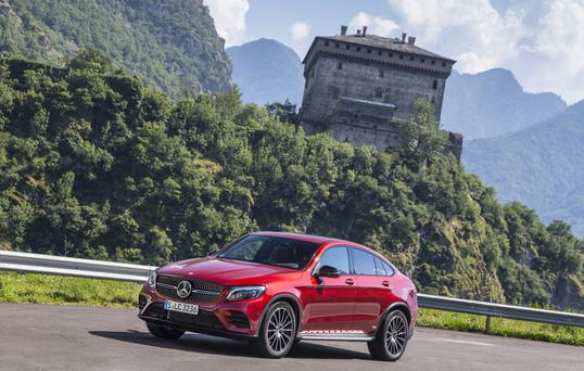 Sloping look: The Merc GLC Coupe.