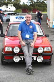 John Egan with his 38-year-old Fiesta
