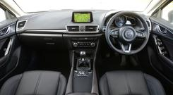 The interior of the Mazda 3