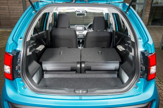 The two rear seats can slide to create more bootroom