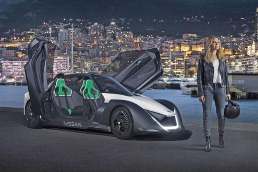 Actor Margot Robbie, Nissan's new electric vehicle (EV) ambassador