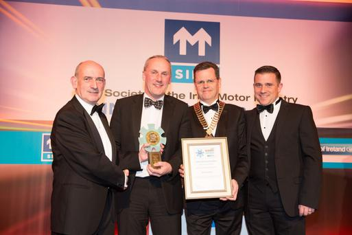 Independent Sales Operation of the Year - Meridian Motors: L-R: Pat Creed Bank of Ireland Finance, Aidan Finn Manager Meridian Motors, Alan Greene, Stephen Murphy Managing Director Meridian Motors