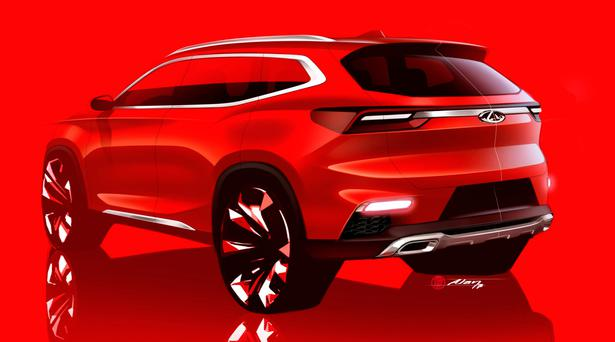 A sketch of the compact SUV from Chery