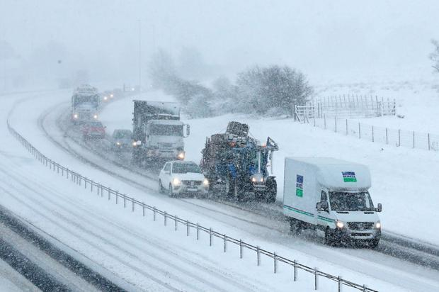 You need to drive more slowly in snow
