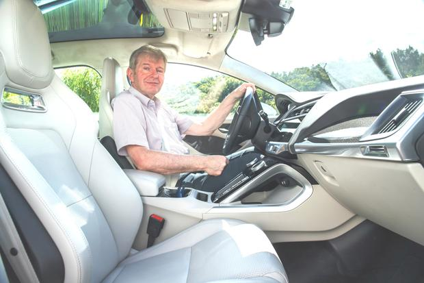 Eddie Cunningham in the I-Pace