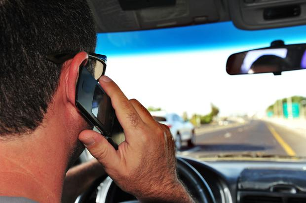 Driving while on phone
