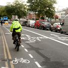 A cycle lane in Dublin
