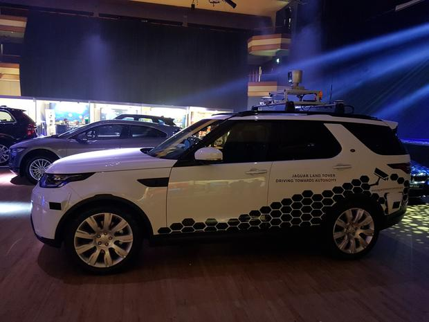 Near future: The Land Rover Discovery self-driving vehicle