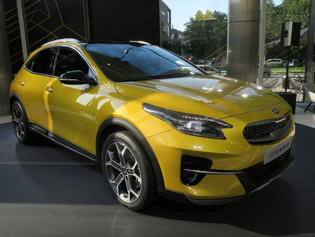 Yellow fever: The XCeed looked smart in the lobby of Kia's European headquarters in Frankfurt
