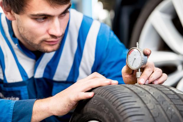 Roadworthy: You should check your tyres on a regular basis to make sure they are not below the legal minimum tread depth of 1.6mm
