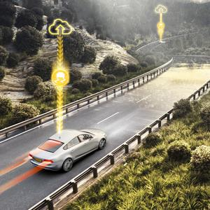 On the way: Next-generation stability control technology allows vehicles to communicate with each other and share information such as road conditions