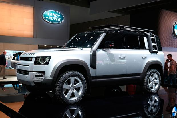 The new Land Rover Defender stands on display at the 2019 IAA Frankfurt Auto Show on September 10, 2019 in Frankfurt am Main, Germany.