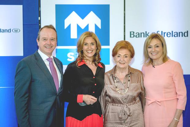 Great event: (left to right) SIMI president Gabriel Keane, guest speaker Alison Comyn, Breege O'Donoghue, former Primark board member, and MC Mary Kennedy