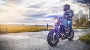 Speed, freedom and a brotherhood kitted out in black leather and gleaming steel – what's not to like? Stock photo