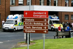 Ambulances at the Accident & Emergency  department  at Beaumont Hospital yesterasy.PicTom Burke  19/7/03
