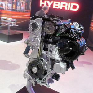 The engine of the new Toyota Yaris