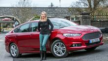 Geraldine Herbert and the new Ford Mondeo